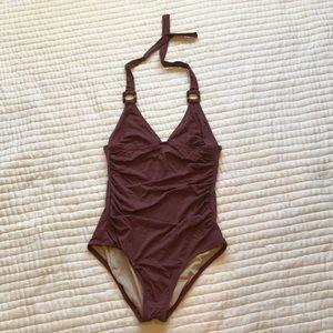 J Crew Halter Swim Suit, Size 8